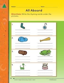 Rhyming--All Aboard Literacy Center (eLesson)