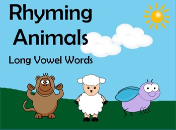 Rhyming Animals Flipchart - Long Vowel Words