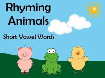 Rhyming Animals Flipchart - Short Vowel Words