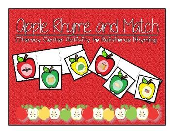 Rhyming Apple Match