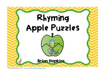 Rhyming Apple Puzzles