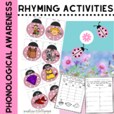 Rhyming Activities Preschool, Kindergarten, ELL & RTI