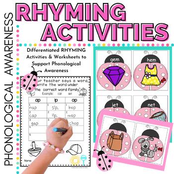 Rhyming Activities Preschool, Kindergarten, ELL & RTI
