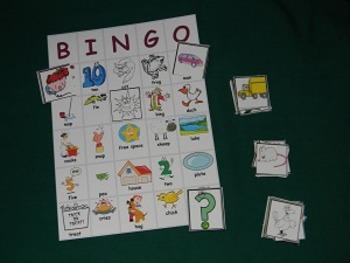 Rhyming BINGO Literacy Center Classroom game- Hard Good