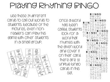 Rhyming BINGO - Printer Friendly :)
