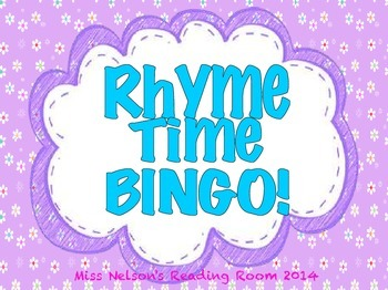 Rhyming BINGO activity!