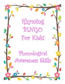Rhyming BINGO_ Phonological Awareness Skills