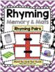Rhyming BUNDLE - Worksheets - Literacy Center - Kindergarten Back to School