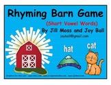 Rhyming Barn (Short Vowel Words) Game