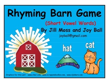 Rhyming Barn (Short Vowel Words) Game