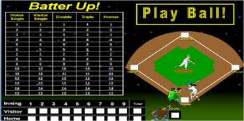 Rhyming Baseball PowerPoint game TV/computer or SmartBoard