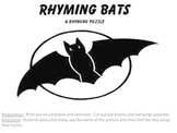 Rhyming Bats a rhyming puzzle and Halloween Fun