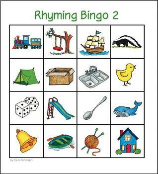 Rhyming Bingo 2 - whole class set