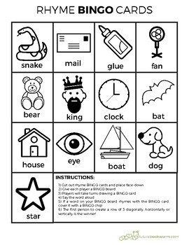 Printer-Friendly Rhyming Bingo