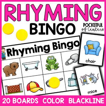 Rhyming Bingo Game