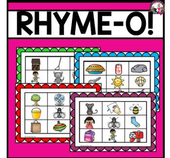 Rhyming Bingo!  Great for Phonemic Awareness!