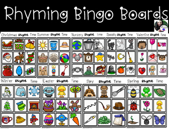 Rhyming Bingo Tic Tac Toe