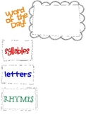 Rhyming, Blending, and Syllables