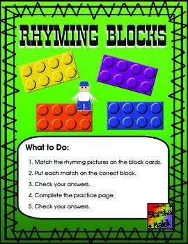 Rhyming Blocks Pocket Folder Center