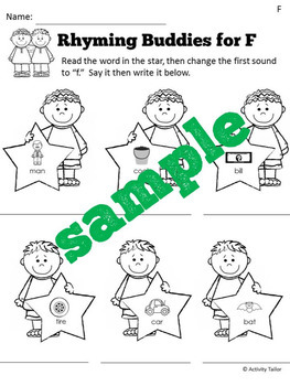 Rhyming Buddies for Articulation and Extra Practice