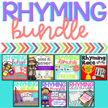Rhyming Words - Center Activity Bundle