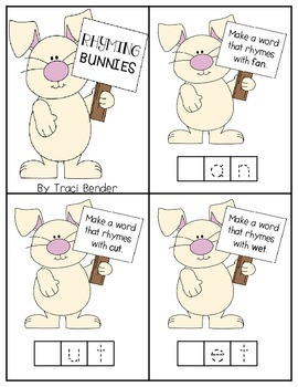 Rhyming Bunnies Freebie