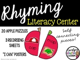 Rhyming CVC Apple Literacy Center