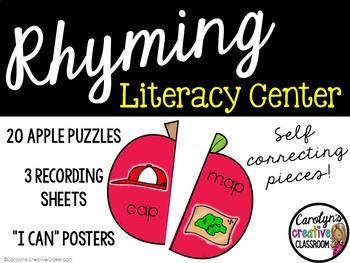 Rhyming CVC Apple Literacy Center