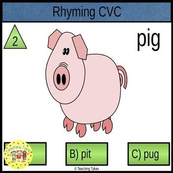 Rhyming CVC Task Cards