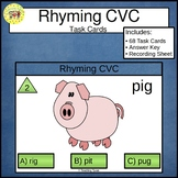 Rhyming CVC Clip Cards