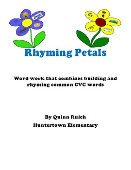 Rhyming CVC Flowers with a QR self check