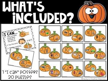 Rhyming CVC Pumpkin Literacy Center