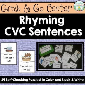 Rhyming CVC Sentences