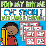 Rhyming CVC Short I Task Cards and Activities