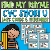Rhyming CVC Short U Task Cards and Activities
