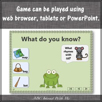 Rhyming CVC Words Interactive Rhyming Game {Froggy Fun}