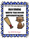 Rhyming CVC Write the Room