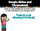 Rhyming CVC words -A Digital Literacy Center (Compatible with Google Apps)