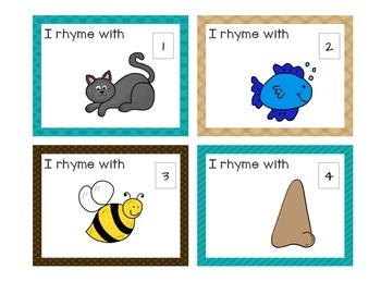 Rhyming Cards Activity