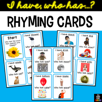 Rhyming Cards I Have Who Has