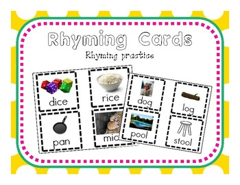 Rhyming Cards Matching Activity