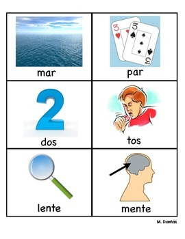 Rhyming Cards in Spanish