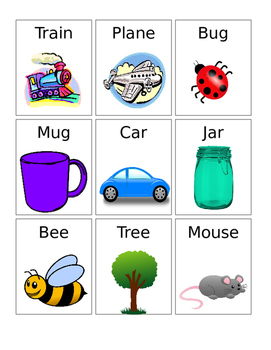 Rhyming Cards with Pictures