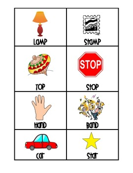 Rhyming Cards with Worksheet!