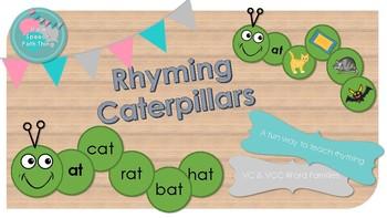 Rhyming Caterpillars (CVC & CVCC)
