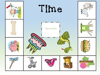 Rhyming Center Board Game withPicture Clues