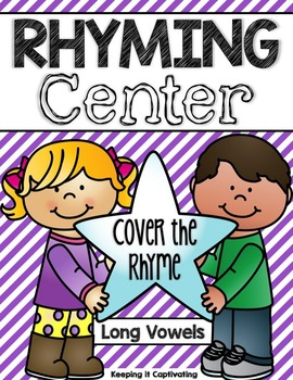 Rhyming Center {Cover the Rhyme LONG VOWELS}