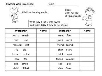 Rhyming Center & More---Back to School Theme