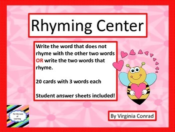 Rhyming Centers for Valentine's Day