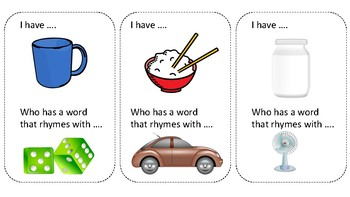 Rhyming Circle Cards